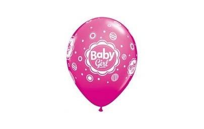 Balon 11 baby girl kropki 6...