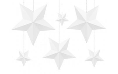 Gwiazda papierowa biała 6...