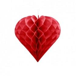 Serce bibułowe 30cm czerwone