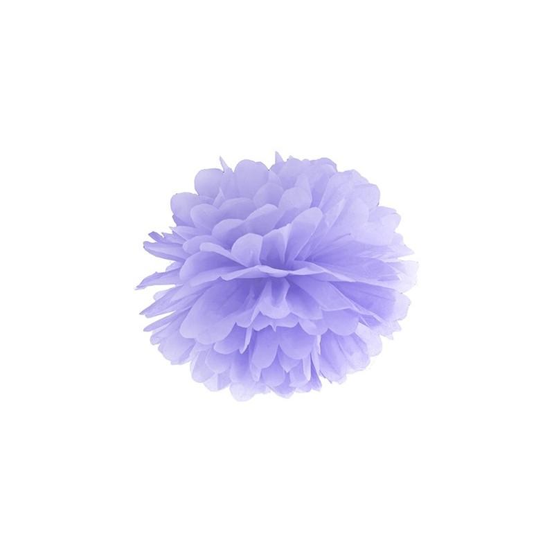 Pompon bibułowy jasny liliowy 25cm