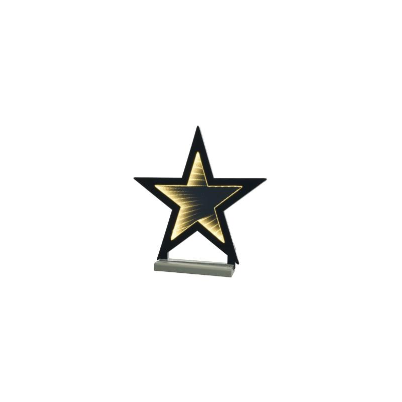 Gwiazda na stojaku 68 led ciepły biały 46cm