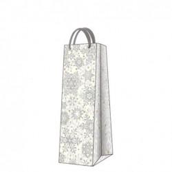 Torba butelkowa Premium Glowing Stars srebrna 12x37x10cm