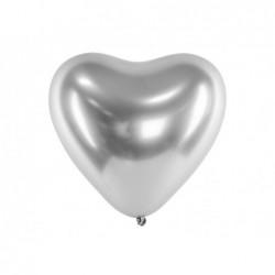 Balony 30cm Glossy srebrne...