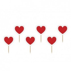 Kartki na piku serce 10cm 6...