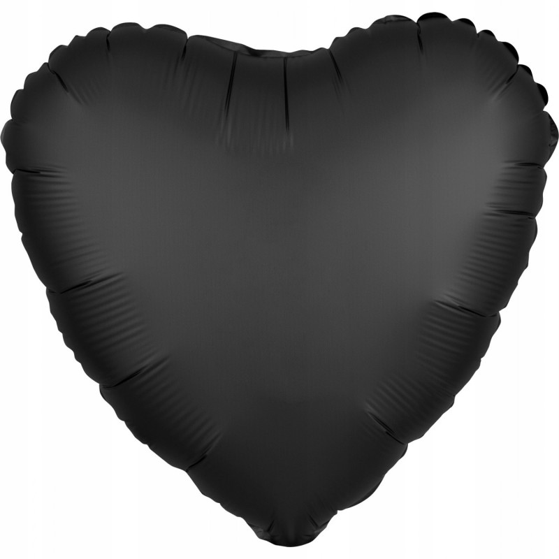 Balon foliowy 17 satynowy serce czarne