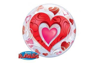 Balon 22 serce podwójne...