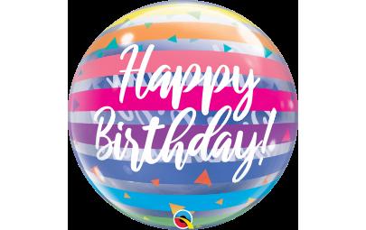 "Balon 22"" Bright rainbow..."