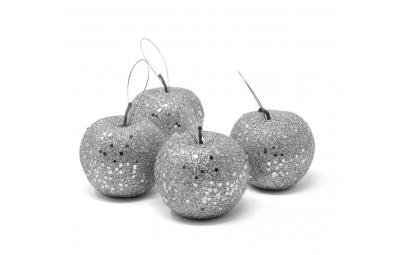 Jabłuszko srebrne brokatowe...