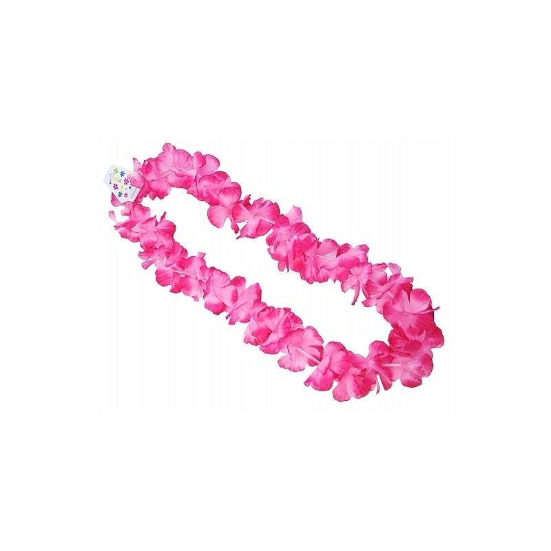Naszyjnik hawajski różowy 1m