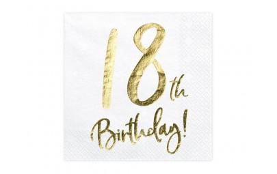 Serwetka 18 Birthday biała...