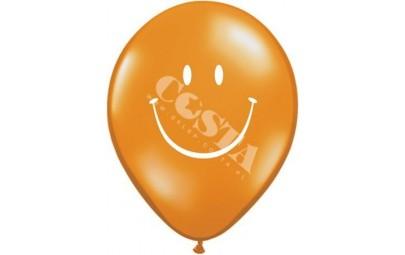 Balon 11 żółty uśmiech 25 szt