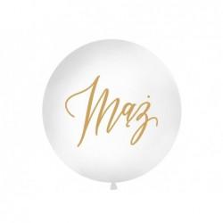 Balon 1M Mąż biały pastel