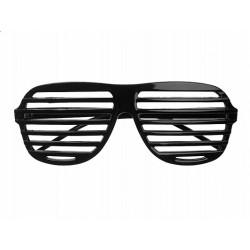Okulary żaluzje czarne