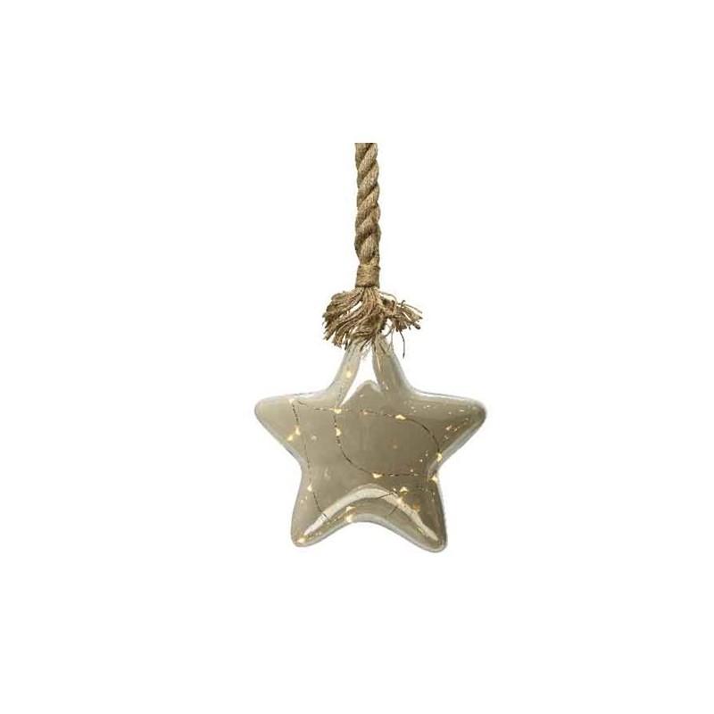 Figura LED 15l gwiazda na linie ciepły biały 20x80cm