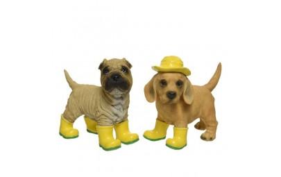 Pies w kaloszach żółtych mały