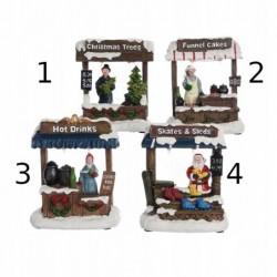 Figura led bożonarodzeniowa stoisko sprzedażowe 7x10,5x13,5cm (multikolor)
