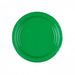 Talerz papierowy zielony 8szt