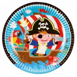Talerz papierowy Pirat 23cm...