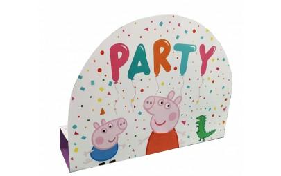Zaproszenia Peppa Pig 8szt