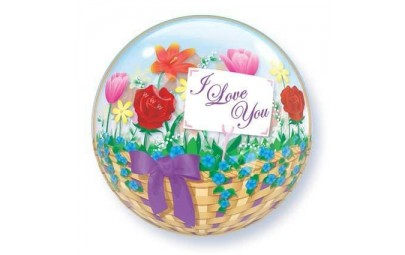 Balon bubble 22'' I Love...