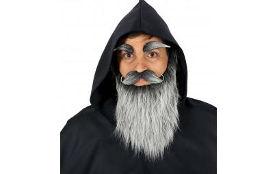 Broda długa wąsy i brwi