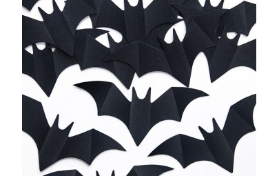 Czarne konfetti papierowe...