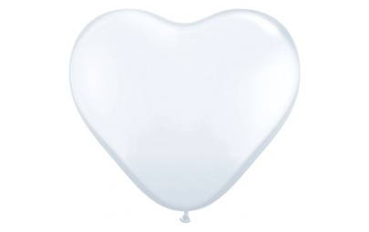 Balon 11 serce białe pastel...