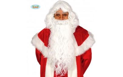 Peruka Mikołaja z brodą długa