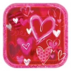 Talerz papierowy Hearts...