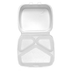 Pojemnik styropianowy obiadowy zamykany 3 dzielny 100szt