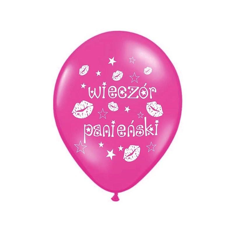 Balon 30 cm wieczór panieński hot pink 6 szt