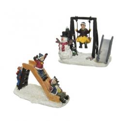Figurka plac zabaw huśtawka/zjeżdżalnia multi 6x11x8cm