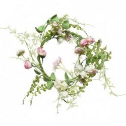 Wianek z różowo-białych róż...