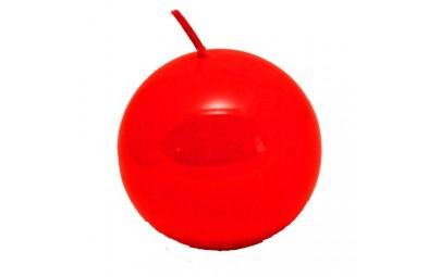 Świeca kula lakier czerwony...