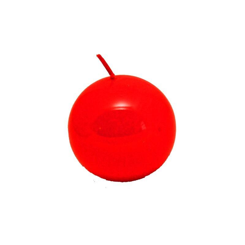 Świeca kula lakier czerwony 80mm