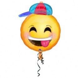 Balon foliowy 20 Emotikon w czapce z daszkiem