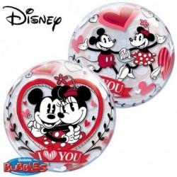 Balon 22 Mickey&Minnie I love you boubble