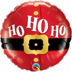 Balon foliowy 18 pasek mikołaja Ho Ho Ho