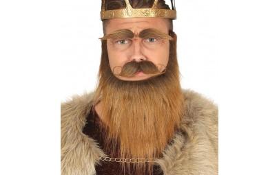 Broda z wąsami i brwiami...