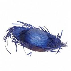 Kapelusz słomiany niebieski