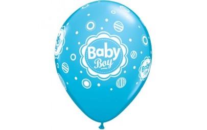 Balon 11 baby boy kropki 6...