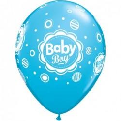 Balon 11 baby boy kropki 6 szt.