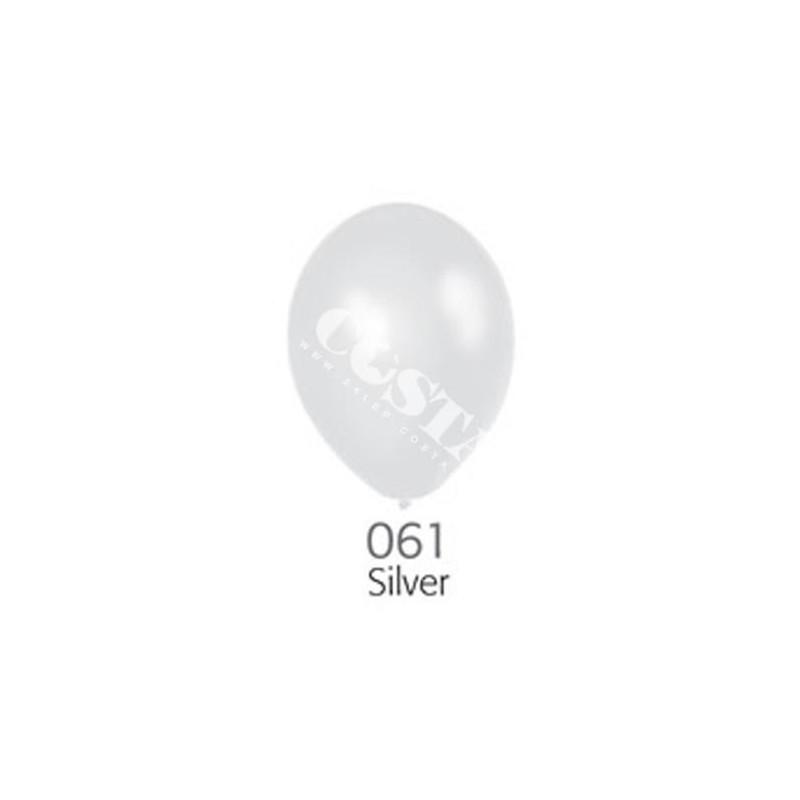 Balon D5 silver - srebrny metalik 100 szt.