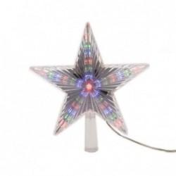 Gwiazda na choinkę 31 led wewnętrzna multikolor 22cm (transparentna)
