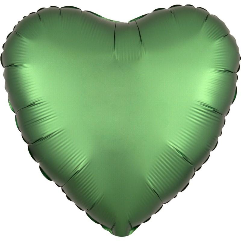 Balon foliowy 17 satynowy serce zielone