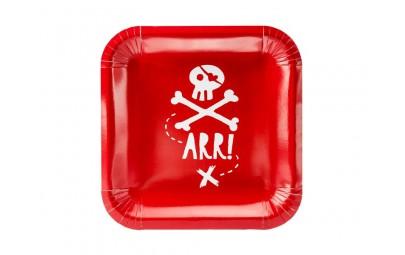 Talerze czerwone Piraci...