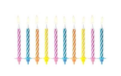 Świeczki urodzinowe mix 6cm...
