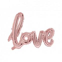 Balon foliowy Love rózowe złoto, 73x59cm