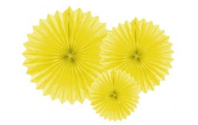 Rozety dekoracyjne żółte 3...