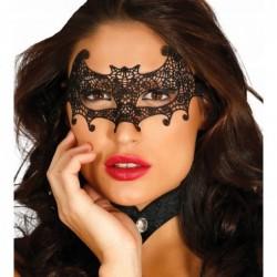 Maska ażurowa nietoperz czarna